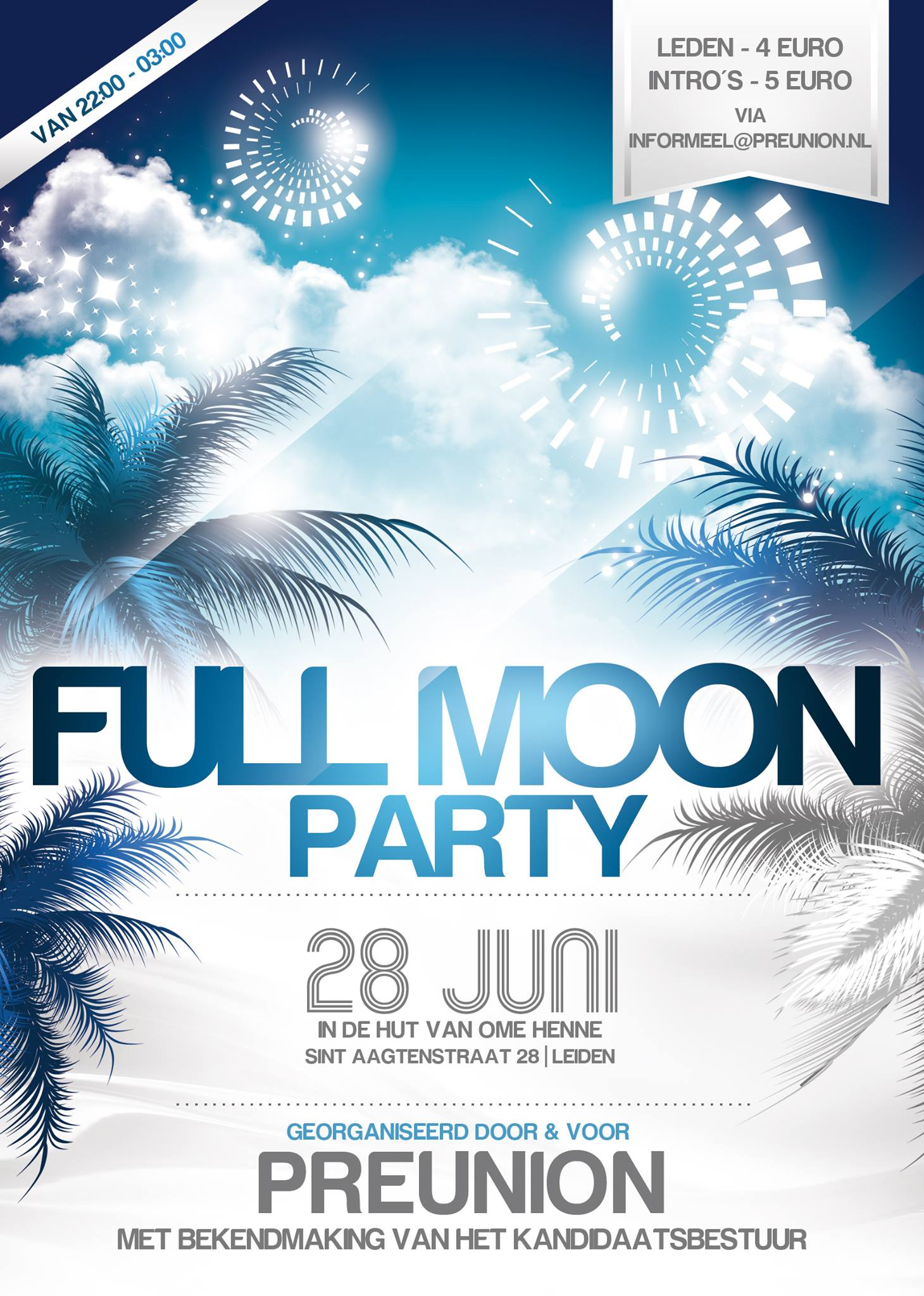 Eindfeest ´Full Moon Party`